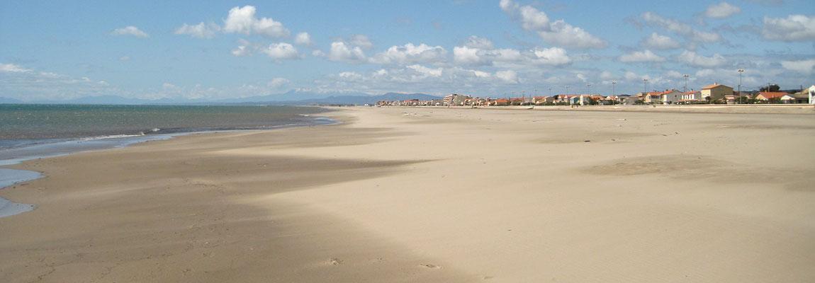Der Strand von Narbonne Plage